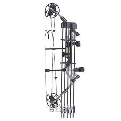 Pro Compound Right Hand Bow Kit Arrow Archery Target Hunting 20-70lbs Camo Set