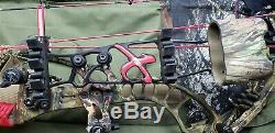 Pse Decree IC Xforce Compound Hunting Bow 31 3/8 Ata 65# Rh Free Shipping