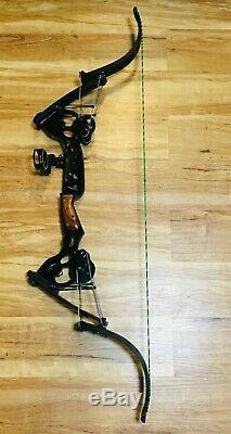 RARE ONEIDA BLACK EAGLE 2 SLF BOW FISHING HUNTING RH 20-35-55 LB 27-30 Draw