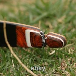 Red archery wooden recurve fiberglass limbs Hunting bow