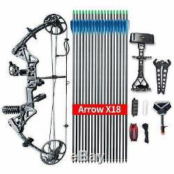 Safari Choice Hunting Archery M1 Compound Bow Set Package, Black Camo