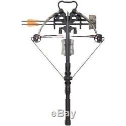 Sniper Hunting Compound Crossbow Camouflage Quiver Arrows 4x32mm Scope