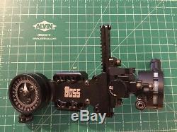 Spot Hogg Boss Hogg. 019 Micro Adjust Single Pin Hunting Bow Sight withsight light