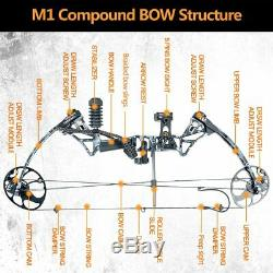 Topoint 320 fps Camo Compound Bow Arrows Hunting Archery Target Outdoor Shooting