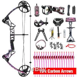 Topoint Female Women Girl Compound Bow Kit Hunting Archery with 18pcs Arrow Pink