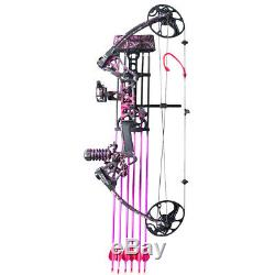 Topoint M1 Female Women Compound Bow Kit Hunting Archery with 18pcs Arrows Pink