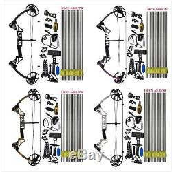 US 19-30/19-70 LBS Compound Bow and Arrow Archery Hunting Target Kit Limbs Bow
