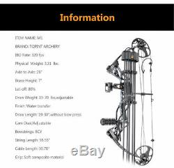 US Adult Hunting Training Archery 19-70Lbs Compound Bow with 18pcs Carbon Arrows