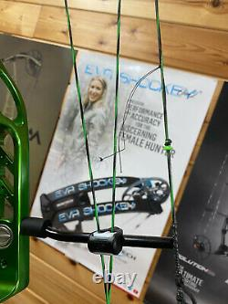 Very Nice ELITE ENERGY 35 Target Hunting Green RH Bow PERFECT CONDITION 65lb 29
