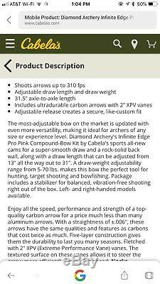 Womans RH Diamond Infinite Edge Bow hunting package