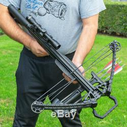XtremepowerUS Crossbow Archer 165 Lbs 380 fps Hunting with Built in Scope Package