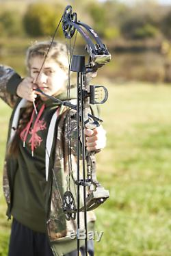 YOUTH WOMENS Camo COMPOUND BOW Junior Archery Right Hand 21-27in Draw Hunting