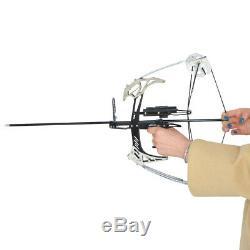 14 Mini Arc À Poulies Set 25lbs Bowfishing Chasse Tir À L'arc Triangle Flèches Bow