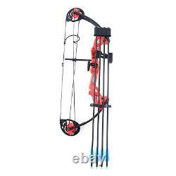 15-25lbs Mini Compound Bow Set Arrow Bowfishing Chasse Tir À L'arc Main Droite