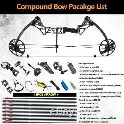 19-70lbs Composé Bow Paquet Kit Carbone Flèches Un Bon Jeu De Chasse Cible Main