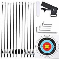 20-70lbs Pro Compound Hand Bow Kit Target Pratique Chasse Arrow Archery