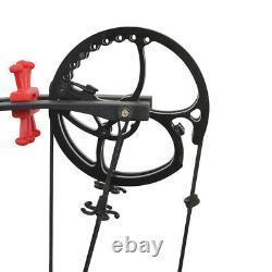 30-55lbs Composé Boule D'acier Bow À Double Usage Chasse Tir À L'arc Rh Lh Tir