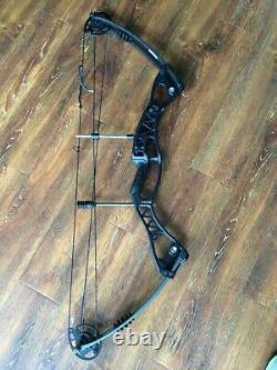 40-60lbs Réglable Compound Bow 40'' Tir À L'arc Droit Main Gauche Chasse À L'aluminium