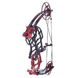 40-70lbs Compound Bow Short Axis Hunting Fishing Archery Arrows Main Gauche Droite