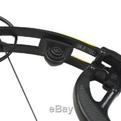 50-65lbs Tir À L'arc Composé Arc 330fps Chasse Réglable Tir Fibre De Carbone