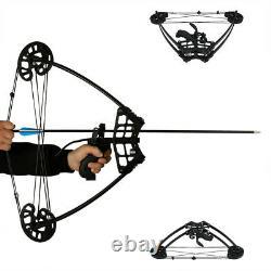 50lbs Triangle De Tir À L'arc Noir Composé Chasse À L'arc À Droite Ours De Pêche À La Main Gauche