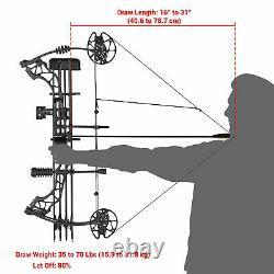 Adultes 70 Lbs Pro Composé De Tir Bow Équipement De La Pratique De La Main Droite Chasse