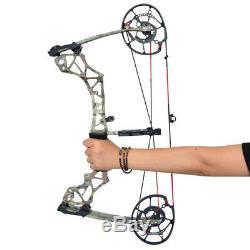 Arc À Poulies À Double Usage Catapult Billes En Acier Bowfishing Chasse Tir À L'arc 40-60lbs