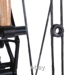 Arc Composé 35-65lbs Short Axis Steel Ball 380fps Tir À L'arc Let Off 80% R/lh Hunt