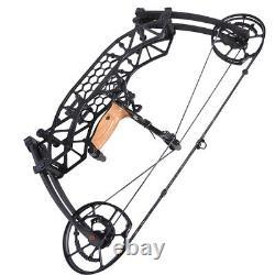 Arc Composé 35-65lbs Steel Ball Short Axis Archery Arrows Hunting Right Left