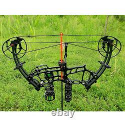 Arc Composé 40-70lbs Tir À L'arc À Axe Court Let Off 80% Rh Lh Bow Hunting Fishing