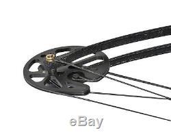 Arc Composé De Chasse À L'arc Noir 35-70 # Main Droite Avec Des Branches D'arc De Fibre De Verre