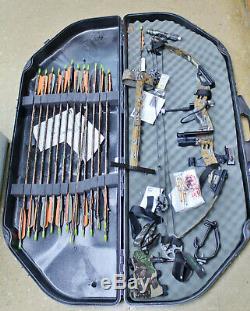 Arc Composé Pse Mach6 Trebark 28 Lbs De Chasse Camuflage 60-70 Withextras 28 Arrow