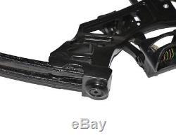 Arc Droit Composé Noir Irq 30-75lbs Pour Cible De Chasse Au Tir À L'arc