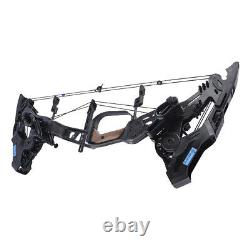 Archery Compound Bow Set 21.5-60lbs Balle En Acier À Double Usage Chasse Aux Flèches 330fps