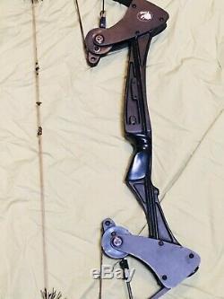 Belle Aigle Noir Oneida Arc Pêche Chasse Droite Moyen Tirage 25-45-65