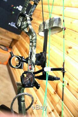 Belle Composé De Pse Bow Madness Rts Hunting Camo Paquet 60lb Kit Custom Cordes