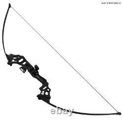 Bows De Tir À L'arc Black Straight Long Bow Entraînement De Chasse Pratique Arrow Head 40 Lbs
