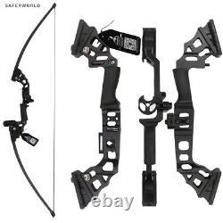 Bows De Tir À L'arc Noir Complexe Traditionnel Bow Cours De Chasse Pratique Arrow Head