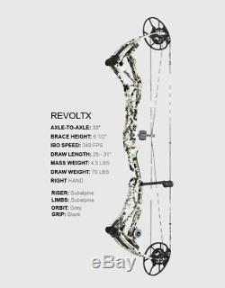 Bowtech Révolte X 60 # 70 # Droit À La Main 26 À 31 Tir À L'arc Composé Chasse À L'arc