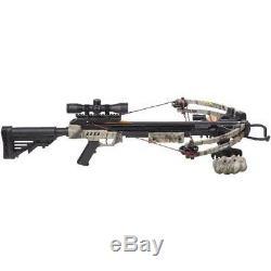 Chasse Sniper Composé Arbalète Camouflage Quiver Flèches 4x32mm Portée