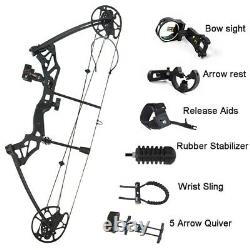 Chasse Sports Bow And Arrow 1 Set Archery 30-70 Lbs Composé Bow Ibo 320 Fps