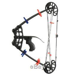 Chasse Tir À L'arc Composé De Pêcher À L'arc Slingshot Catapult 2 En 1 40lbs Cible