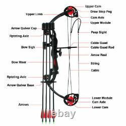 Compound Bow Set 15-29lbs Arrows Archery Hunting Equipment For Teens And Kids États-unis