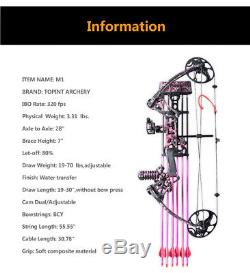 Ensemble Arc Tir À L'arc Composé Arrow Chasse Tir Kit Cadeau Pour Les Femmes Filles M1