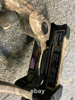 Hoyt Nitrum Turbo Rh 29 70# Realtree Camo Hunting Bow #3 Cam 1/2 Peep & Loop