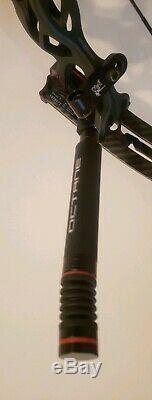 Hoyt Pro Comp Elite Fx Archet De Chasse 3d Pour Cible Xt2000 Flat Black Rh / 27 & 27 / 50lb