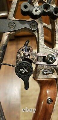 Hoyt Pro Defiant Camo 60-70lb 26-28in Tirage Rh! Nice Et Prêt À Chasser