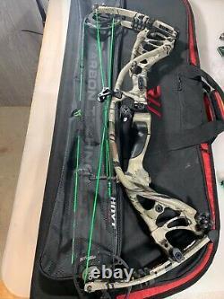 Hoyt Rx3 Carbon Turbo Archery Bow Hunting 29.5 Inch Draw 50-60lb (7225)