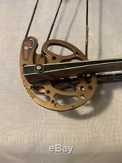 Hoyt Trykon Gauche Bow Main Lb 28 Pouces 60-70 Tirage Longueur Composé Chasse À L'arc Utilisé