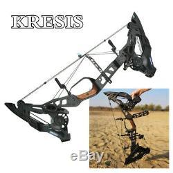Krysis 21.5lbs-80lbs À Double Usage Bow Catapult À Billes En Acier Pêche Chasse Slingshot